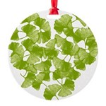 ginkgo-heart_tr.png Round Ornament