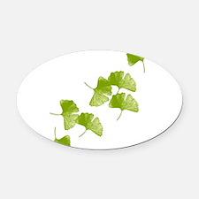 Ginkgo Leaves Oval Car Magnet