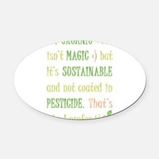 organic-food.png Oval Car Magnet