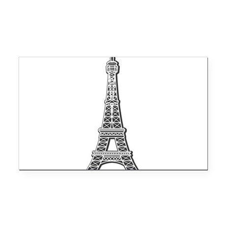 EIFFEL-TOWER.png Rectangle Car Magnet