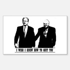 Brokeback Bush Cheney Rectangle Decal