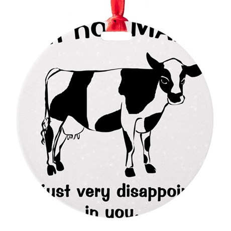 madcow.gif Round Ornament