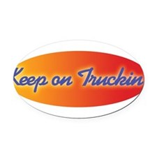 keep_on_truckin.jpg Oval Car Magnet