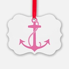 Pink Anchor Ornament