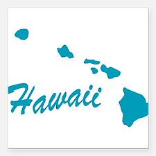 "3-hawaii.png Square Car Magnet 3"" x 3"""
