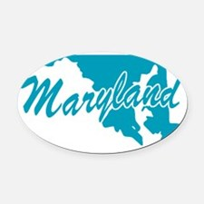 3-maryland.png Oval Car Magnet