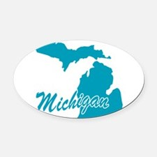 3-michigan.png Oval Car Magnet