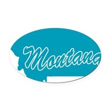 3-montana.png Oval Car Magnet