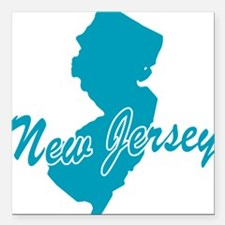 """3-new-jersey.png Square Car Magnet 3"""" x 3"""""""