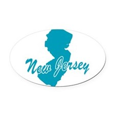 3-new-jersey.png Oval Car Magnet