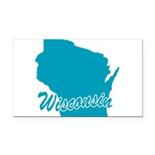 3-wisconsin.png Rectangle Car Magnet