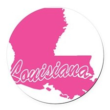 louisiana.png Round Car Magnet
