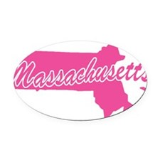massachusetts.png Oval Car Magnet