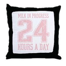 Milk In Progress Throw Pillow