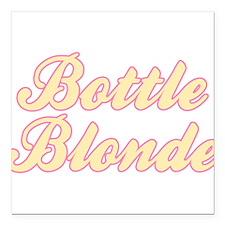 """Bottle Blonde Square Car Magnet 3"""" x 3"""""""