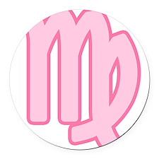 pink-zodiac-virgo.png Round Car Magnet