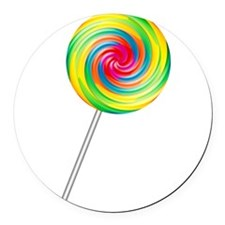 lollipop.png Round Car Magnet
