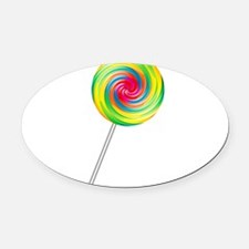 lollipop.png Oval Car Magnet