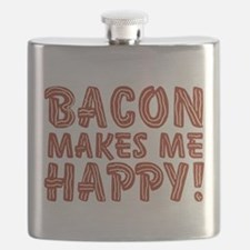 Bacon Makes Me Happy Flask