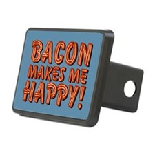 Bacon Makes Me Happy Hitch Cover
