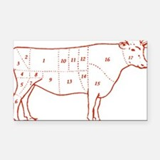 beef-cuts-retro.png Rectangle Car Magnet