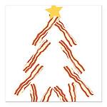 Bacon Christmas Tree Square Car Magnet 3