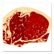 """steak-notext.png Square Car Magnet 3"""" x 3"""""""