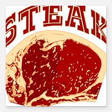 "steak.png Square Car Magnet 3"" x 3"""