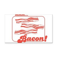 MMM Bacon Rectangle Car Magnet