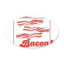 MMM Bacon Oval Car Magnet
