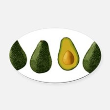 avocados_mug.png Oval Car Magnet