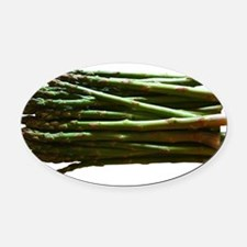 ASPARAGUS-NEW.png Oval Car Magnet