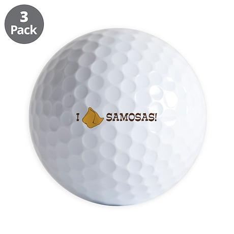 I-LOVE-SAMOSAS.png Golf Balls