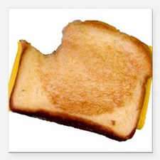 """bl_grilledcheese.png Square Car Magnet 3"""" x 3"""""""
