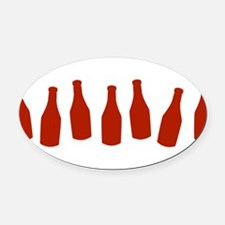 KETCHUP-ROW.png Oval Car Magnet