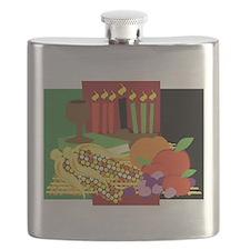 Kwanzaa Design Flask