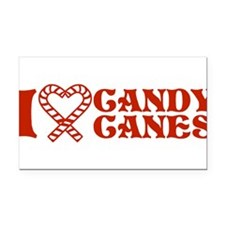 i-love-candy-canes.png Rectangle Car Magnet