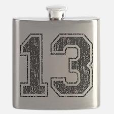 Retro 13 Number Flask