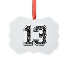 Retro 13 Number Ornament