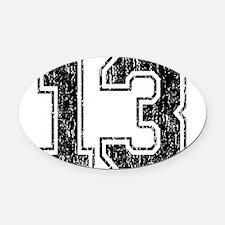Retro 13 Number Oval Car Magnet