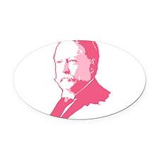 taft_pink.png Oval Car Magnet