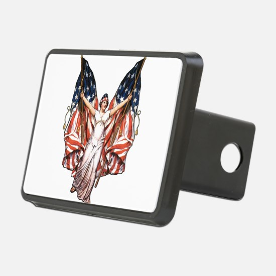 vintage-flag-bearer.png Rectangular Hitch Cover