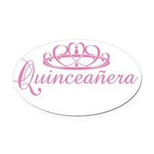 quinceanera.png Oval Car Magnet
