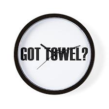 Got Towel? Wall Clock