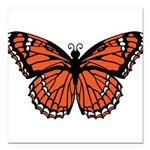 butterfly-orange.png Square Car Magnet 3