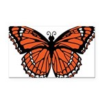 butterfly-orange.png Rectangle Car Magnet
