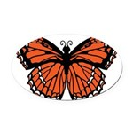 butterfly-orange.png Oval Car Magnet