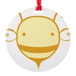 cute-bee2_tr.png Round Ornament