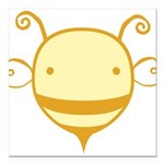 cute-bee2_tr.png Square Car Magnet 3