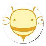 cute-bee2_tr.png Round Car Magnet